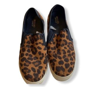Mossimo Suede Animal Print Loafers Size 7.5